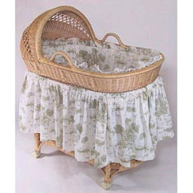 Baby Doll Vintage Toile Pillow and Blanket