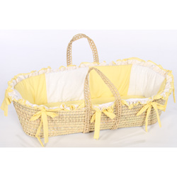 Baby Doll Gingham Eyelet Moses Basket