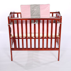 Baby Doll Grey Rocking Horse Porta Crib Bedding