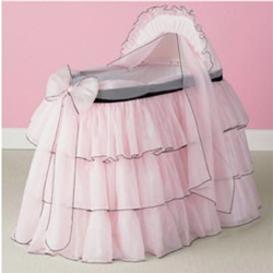 Baby Doll Sherbert Bassinet Pillow and Blanket