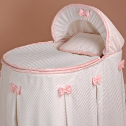 Baby Doll Perfectly Pretty Bassinet Liner/Skirt and Hood