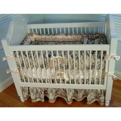 Additional Black Toile Crib Sheet