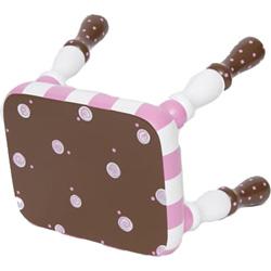 Chocolate and Pink Swirly Stool