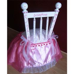 Personalized Fuschia Princess Chair