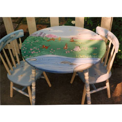 Pooh Bear Table and Chair Set