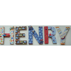 Henry's Transportation Wall Letters