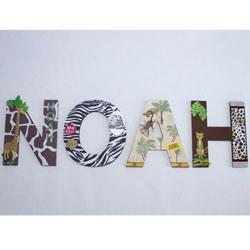 Noah's Jungle Wall Letters