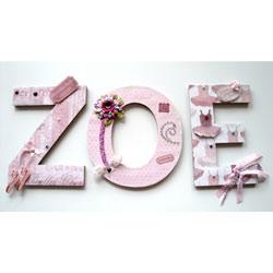 Zoe Ballerina Wall Letters