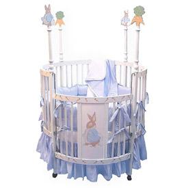 Bunny Round Baby Crib