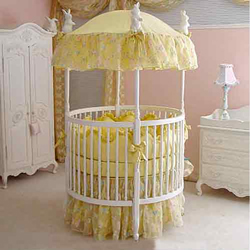 Butterfly Silk Round Crib Bedding