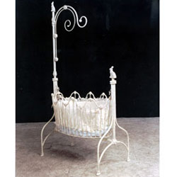 Corsican High Post Bunny Rabbit Iron Baby Cradle
