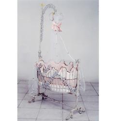 Corsican Silver Grapevine Baby Cradle