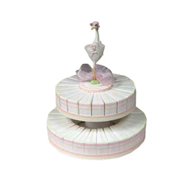Double Tiered Stork Cake