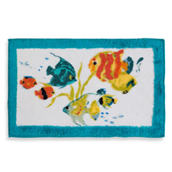 Rainbow Fish Bath Rug