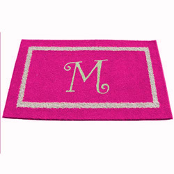 Double Border Initial Rug