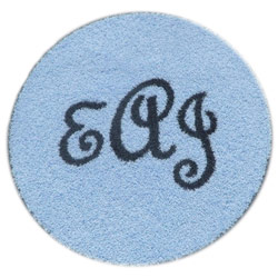 Round Monogram Rug