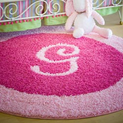 Personalized Round Border Rug