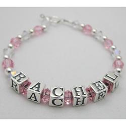 Crystal Beads Name Bracelet