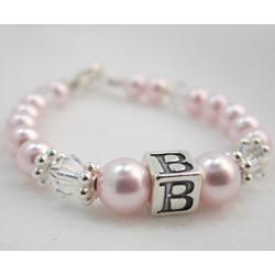 Swarovski Pearl Initial Bracelet