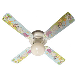Jungle Party Animals Ceiling Fan