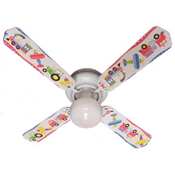 Planes, Trains and Trucks Ceiling Fan