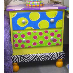 Funky Two Drawer Night Stand
