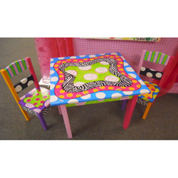 Funky Table and Chairs Set