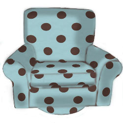 Child's Polka Dots Swivel Chair