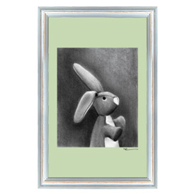 Oopsy Daisy/No Boundaries Charcoal Bunny Canvas Wall Art
