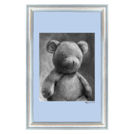 Oopsy Daisy/No Boundaries Charcoal Teddy Canvas Wall Art