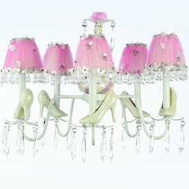 Just Too Cute Cinderella Glass Slippers Chandelier