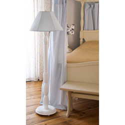 Charming Blue Linen Floor Lamp