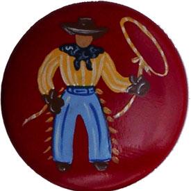 Happy Trails Red Cowboy Knobs