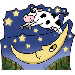 Cow Jumped Over The Moon Twin Bed
