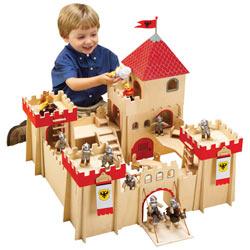 Classic Wooden Castle Play Set