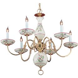 Floral Ceramic Chandelier