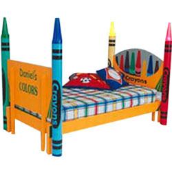 Crayon Twin Bed