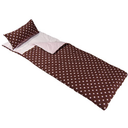 Chocolate Polka Dot Sleeping Bag