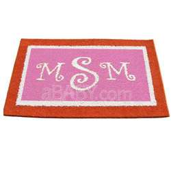 Double Border Monogrammed Rug