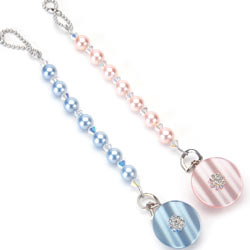 Crystal Pacifier Clip