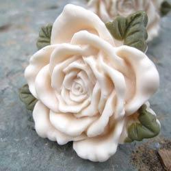 Rose Drawer Knob with Leaf