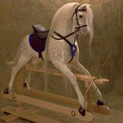 Hennessy Horses Dapple Grey Large Rocking Horse