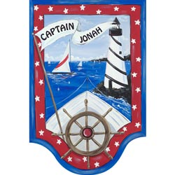 Captain of the Sea Wall Hanging
