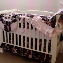 Ribbons and Roses Crib Pillow