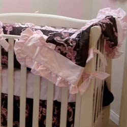 Ribbons and Roses Crib Blanket