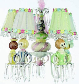 Just Too Cute Doll Chandelier