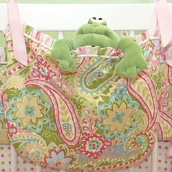 Spring Paisley Toy Bag