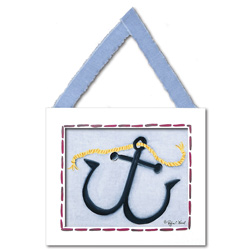 Doodlefish Anchor Wall Hanging