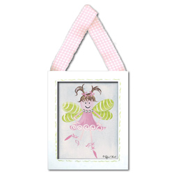 Doodlefish Fairy Lt. Brown Wall Hanging