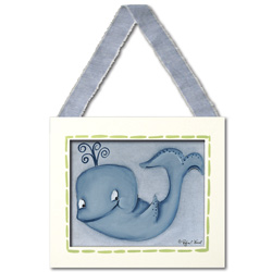 Doodlefish Whale Wall Hanging